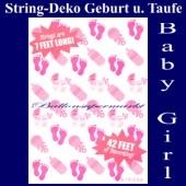 String Dekoration zu Geburt und Taufe, Baby Girl