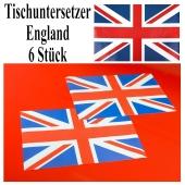 Untersetzer England, Partydekoration Union Jack Tischdekoration