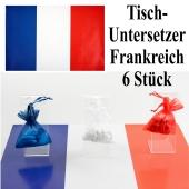 Untersetzer Frankreich, Partydekoration Frankreich Tischdekoration