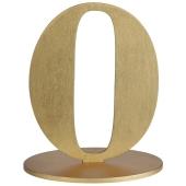 Tischaufsteller Zahl 0 in Gold
