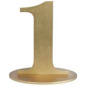 Tischaufsteller Zahl 1 in Gold