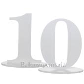 Tischaufsteller Zahl 10