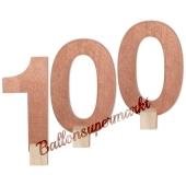 Tischaufsteller Zahl 100 in Rose Gold