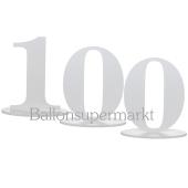 Tischaufsteller Zahl 100
