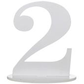 Tischaufsteller Zahl 2