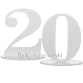 Tischaufsteller Zahl 20