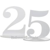 Tischaufsteller Zahl 25