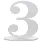 Tischaufsteller Zahl 3