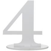 Tischaufsteller Zahl 4