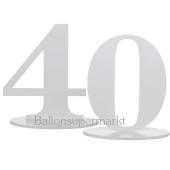 Tischaufsteller Zahl 40