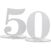 Tischaufsteller Zahl 50