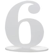 Tischaufsteller Zahl 6