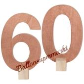 Tischaufsteller Zahl 60 in Rose Gold