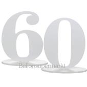 Tischaufsteller Zahl 60