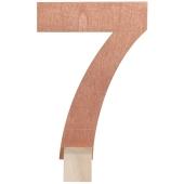 Tischaufsteller Zahl 7 in Rose Gold