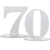 Tischaufsteller Zahl 70