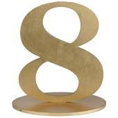 Tischaufsteller Zahl 8 in Gold