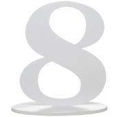 Tischaufsteller Zahl 8
