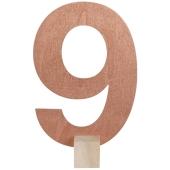 Tischaufsteller Zahl 9 in Rose Gold