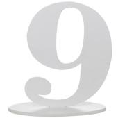 Tischaufsteller Zahl 9