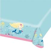 Party-Tischdecke Be a Mermaid zum Meerjungfrauen Kindergeburtstag
