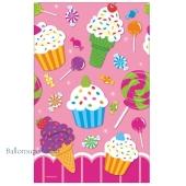 Geburtstagsparty Candy Bar Tischdecke, Sweet Shop