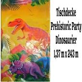 Tischdecke Prähistorische Party mit Dinos zum Kindergeburtstag