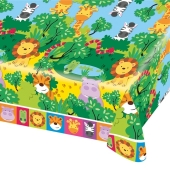 Party-Tischdecke Dschungeltiere zum Kindergeburtstag