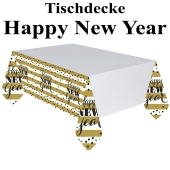 Tischdecke Silvester Dekoration, Golden New Year, 137 x 2,59 cm