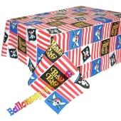 Party-Tischdecke Pirate Party zum Kindergeburtstag, 2,59 x 1,37 m