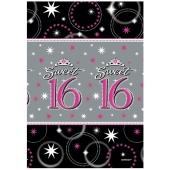 Tischdecke Sweet 16 zum 16. Geburtstag