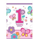 Tischdecke zum 1. Geburtstag, Maedchen, Sweet Birthday Girl