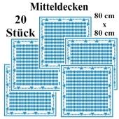 Bayrische Wochen Tischdeko Mitteldecken, stoffähnlich, Airlaid, 80 cm x 80 cm, 20 Stück
