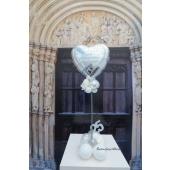 Tischdeko zur Silber Hochzeit