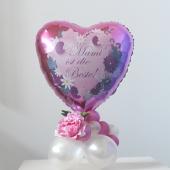 Mami ist die Beste! Tischdekoration aus Luftballons zum Muttertag