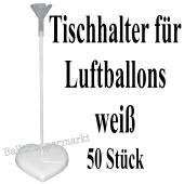 Tischhalter für Luftballons, 50 Stück, weiß