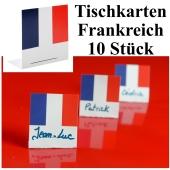 Tischkarten Frankreich