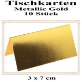 Tischkarte, Namenskarte, Metallic-Gold