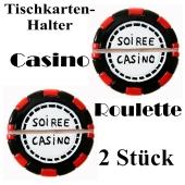 Tischkartenhalter Casino Roulette