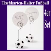 Tischkarten-Halter Fußball, 4 Stück Set