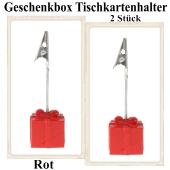 Tischkartenhalter Geschenkbox Rot 2 Stück