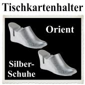Tischkartenhalter, Orient, Silberschuhe