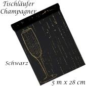 Tischläufer Champagner, schwarz