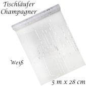 Tischläufer Champagner, weiß