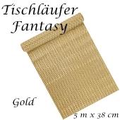 Tischläufer, Tischdecke Fantasy, Gold, 5 Meter Rolle