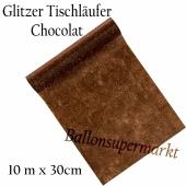 Tischläufer, Tischdecke, Glitzer, Vlies, chocolat