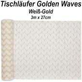 Tischläufer Golden Waves, 3 Meter Rolle