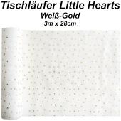 Tischläufer Little Hearts, 3 Meter Rolle