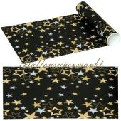 Tischläufer Silvester Dekoration, Sparkling Stars, 480 x 33 cm, Vlies