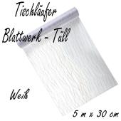 Tischläufer, Tischdecke weißer Tüll, 5 Meter Rolle